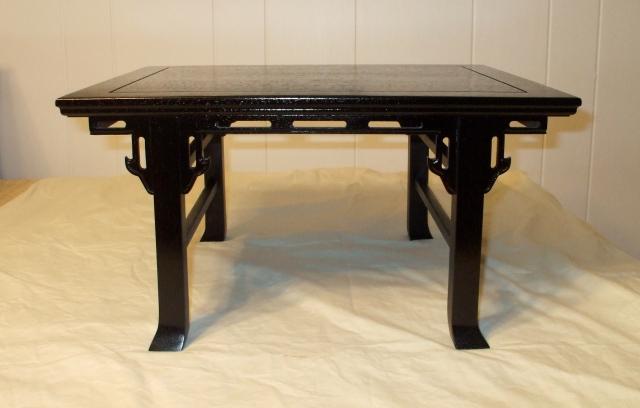 "Black Paduk Table- 15"" x 18"" x 10"" tall"