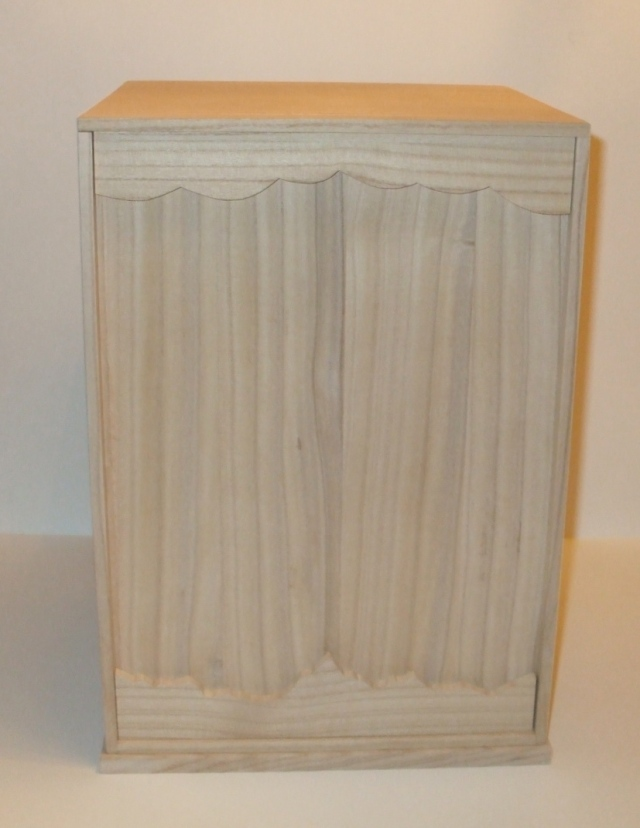 "Large Kiri Box for small stones and pots  -  10.5"" x 11"" x 16"" tall"