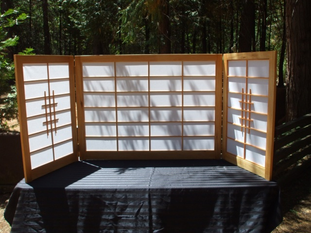 Shoji Screens for Tokanoma Display