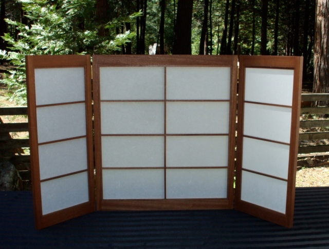 "Medium Sized Shoji Screen- Middle Section is 24"" x 24"""
