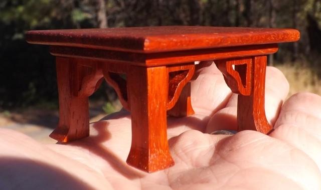 """#7 Paduk Rosewood Mini Stand- 2 1/8"""" x 2 5/8"""" x 1 3/8"""" tall, $45"""