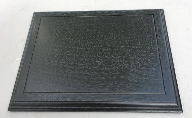 """#1 Platform- 8.5"""" x 11"""" x 3/4"""" tall, black color , walnut wood   $45"""