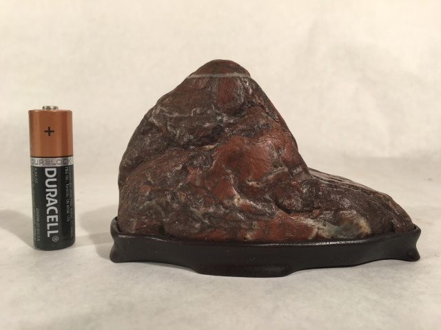 "#2 Jasper Mountain- cut stone, 4.5"" long x 3"" tall, $80"