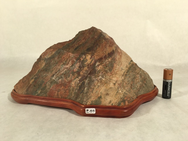"#7 Jasper Mountain- cut stone, 10"" long x 5"" tall, $200"