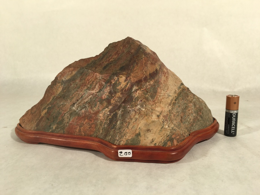 "#7 Jasper Mountain- cut stone, 10"" long x 5"" tall, $200"