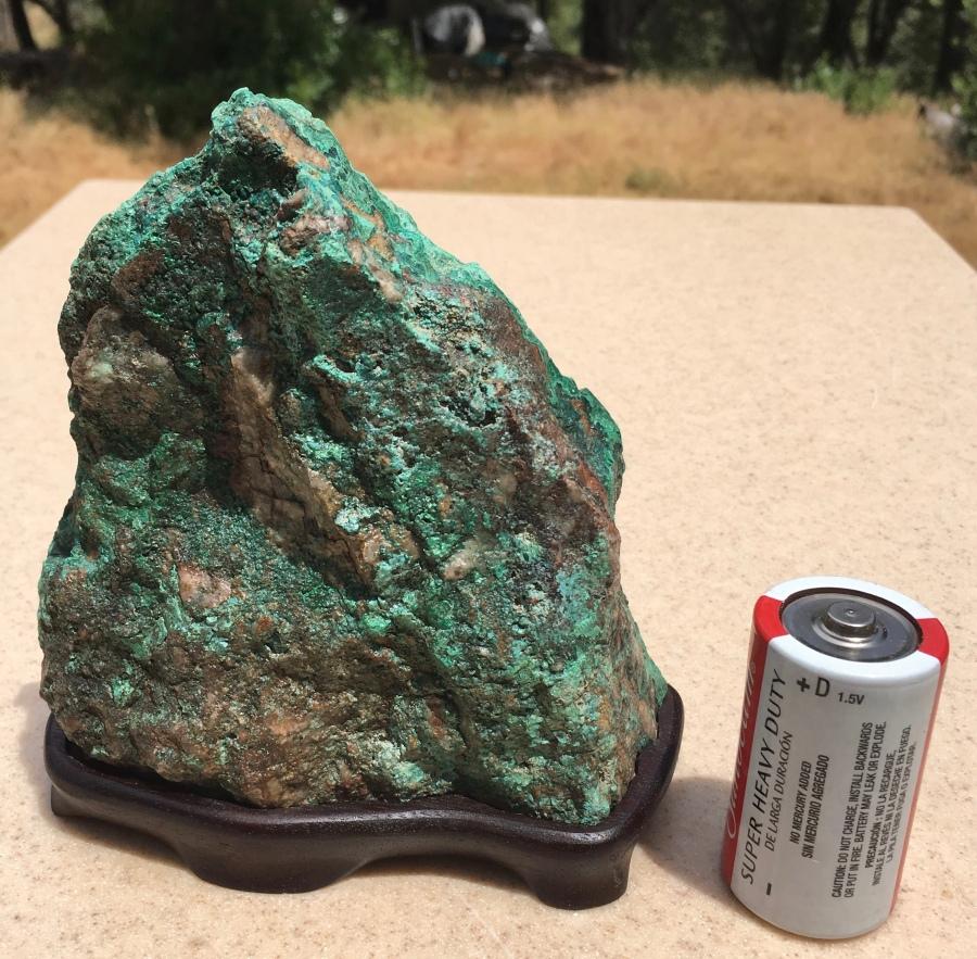 #17 Chrysicolla Mountain Stone- cut bottom, my daiza $120