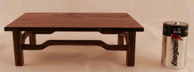 "#15 Bocote Wood Shohin/Mame Stand- 4 3/4"" x 7"" x 2 1/4"" tall, $60"