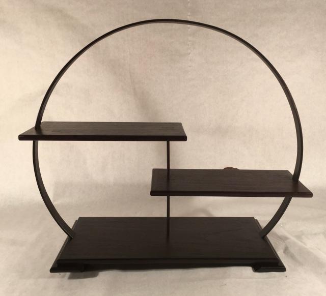 "#129 Display stand- 18"" tall x 6"" deep platforms, $350"